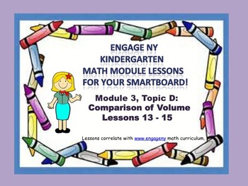 Engage NY Kindergarten Module 3, Topic D (Lessons 13-15) f