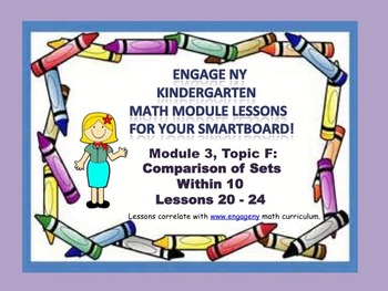 Engage NY Kindergarten Module 3, Topic F (Lessons 20 - 24) for your SmarBoard