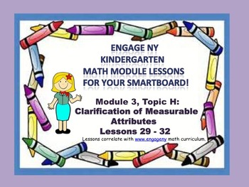 Engage NY Kindergarten Module 3, Topic H (Lessons 29-32) for your SmartBoard!