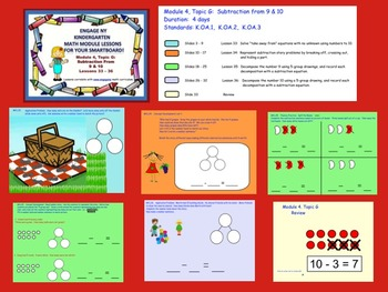 Engage NY Kindergarten Module 4, Topic G (lessons 33 - 36) for your SmartBoard!