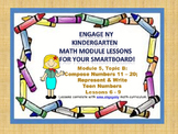 Engage NY Kindergarten Module 5, Topic B (lessons 6 - 9) for your SmartBoard!