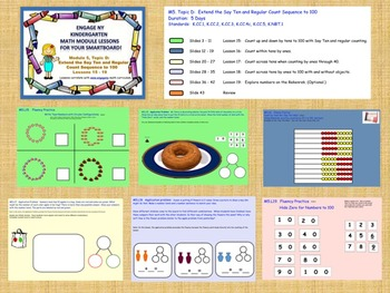 Engage NY Kindergarten Module 5, Topic D (lessons 15 - 19) for your SmartBoard!