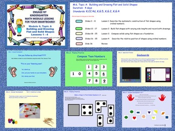 Engage NY Kindergarten Module 6, Topic A (Lessons 1 - 4) for your SmartBoard!