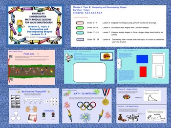Engage NY Kindergarten Module 6, Topic B (lessons 5 - 8) for your SmartBoard!