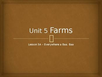 Engage NY Kindergarten Unit 5 Farms Lesson 5a