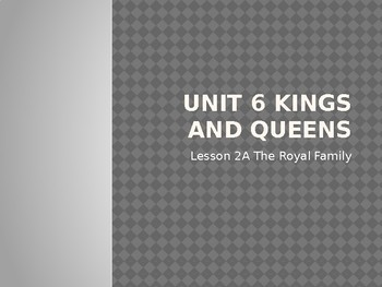 Engage NY LA Kindergarten Unit 6 Lesson 2A The Royal Family