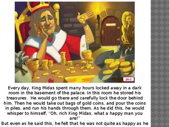 Engage NY LA Kindergarten Unit 6 Lesson 3A King Midas and the Golden Touch