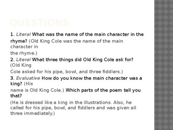 Engage NY LA Kindergarten Unit 6 Lesson 4A Old King Cole