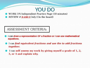 Engage NY MATH 5th Grade Module 3 Lesson 10 (PowerPoint) SUPPLEMENT