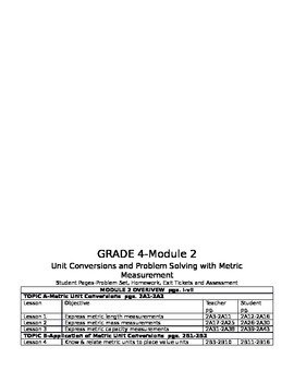 Engage NY MATH Grade 4-Page Number Breakdown for Hard Copy