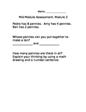 Engage NY Math 1st Grade Mid Module 2 Test
