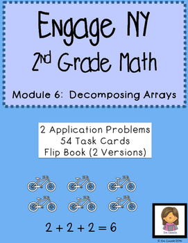 Decomposing Arrays Task Cards (Supplement Engage NY 2nd Grade Module 6 Lesson 6)