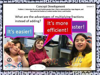 4.5.A Math Module 5 Topic A Engage NY Eureka  4th Grade Fractions