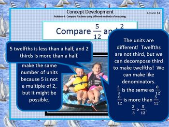 4.5.C Math Module 5 Topic C Engage NY 4th Grade Fraction Comparison