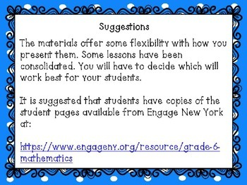 Engage NY Math 6, Module 1, Topic B