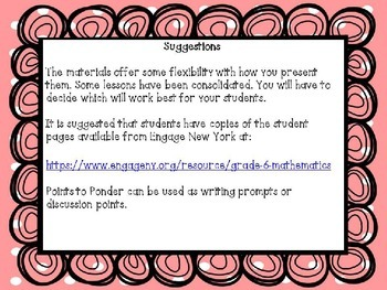 Engage NY Math 6, Module 1, Topic D