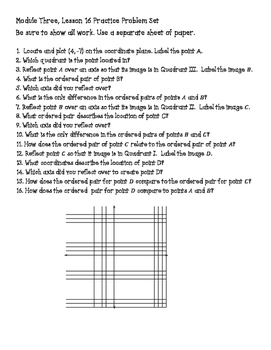 Engage NY Math 6, Module 3 Modified Practice Problem Sets