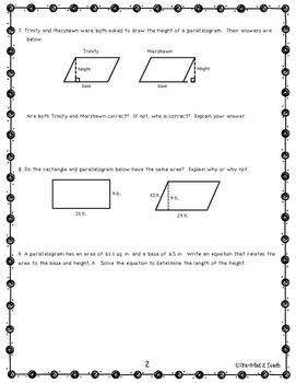 Engage NY Math 6, Module 5 Topic A Review