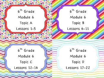 Engage NY Math 6, Module 6 MEGA Bundle