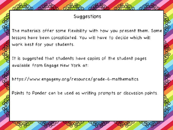 Engage NY Math 6, Module 6 Topic B
