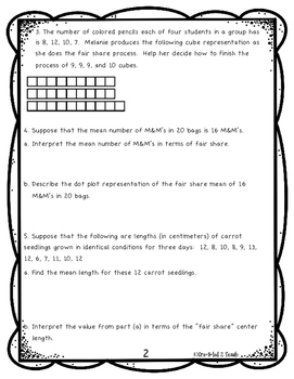 Engage NY Math 6, Module 6 Topic B Review
