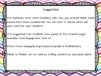 Engage NY Math 6, Module 6 Topic C