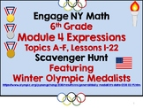 Engage NY Math 6th Grade, Mod 4, Expressions Scavenger Hunt (Olympic Medalists)