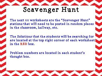 Engage NY Math - 6th Grade - Module 1, Topic A - Ratio Scavenger Hunt