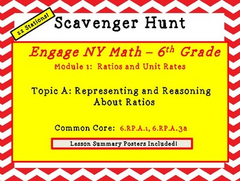 Engage NY Math - 6th Grade Mod 1, Top A - Ratio Scavenger Hunt