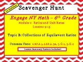 Engage NY Math - 6th Grade, Module 1, Topic B- Ratio Scavenger Hunt