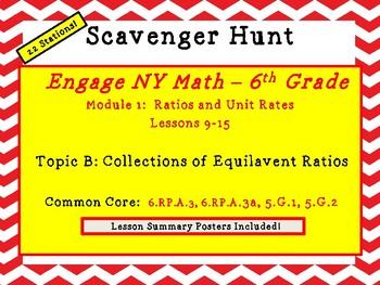 Engage NY Math - 6th Grade Mod 1, Top B Ratio Scavenger Hunt