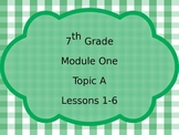 Engage NY Math 7, Module 1 Bundle PPT