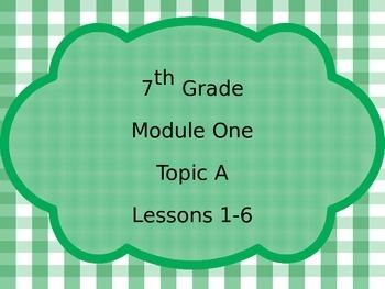 Engage NY Math 7, Module 1 Bundle PPT