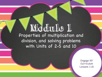 Engage NY Math Curriculum Module 1 Grade 3