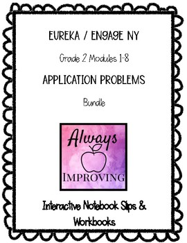 Engage NY Math Grade 2 Application Problem RDW Worksheets Bundle