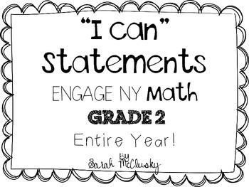 Engage NY Math Grade 2 I Can Statements