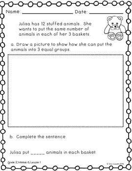 Create Equal Groups Flip book (Supplement Engage NY 2nd Grade Module 6 Lesson 1)