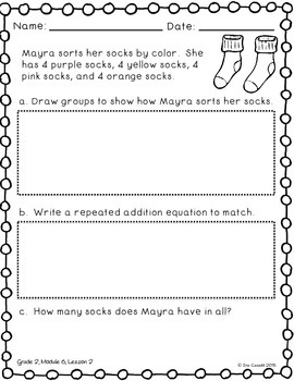 Repeated Addition (Flip Book) (Supplement Engage NY Grade 2 Module 6 Lesson 2)