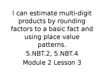 """Engage NY Math Grade 5 """"I Can"""" Statements Module 2"""