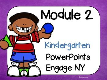 Engage NY Math,  Kindergarten, Module 2, 10 days of  PowerPoints