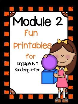 Engage NY Math,  Kindergarten, Module 2, Fun Supplemental Printables