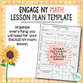 Engage NY Math Lesson Plan Template - EDITABLE