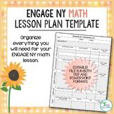 Engage New York Math Lesson Plan Template - EDITABLE