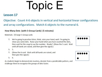 Engage NY Math Module 1 / Eureka Math Module 1 Topic E
