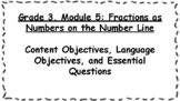 Engage NY Math Objectives 3rd Grade Module 5 Content & Lan