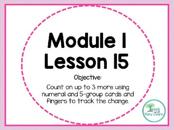 Engage NY (Eureka Math) Presentation 1st Grade Module 1 Lesson 15