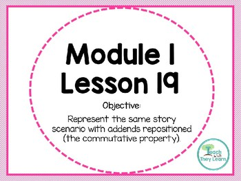 Engage NY (Eureka Math) Presentation 1st Grade Module 1 Lesson 19