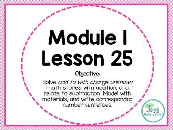 Engage NY (Eureka Math) Presentation 1st Grade Module 1 Lesson 25