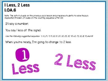 Engage NY/Eureka Math PowerPoint Presentation 1st Grade Module 1 Lesson 34