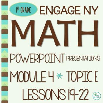 Engage NY Math SMART Board 1st Grade Module 4 Topic E Less
